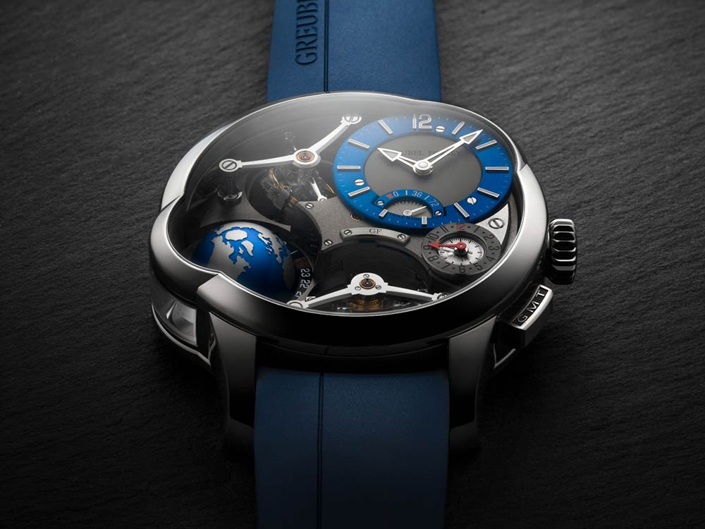 GREUBELFORSEY – Titanium and blue a new chapter for the gmt quadruple tourbillon